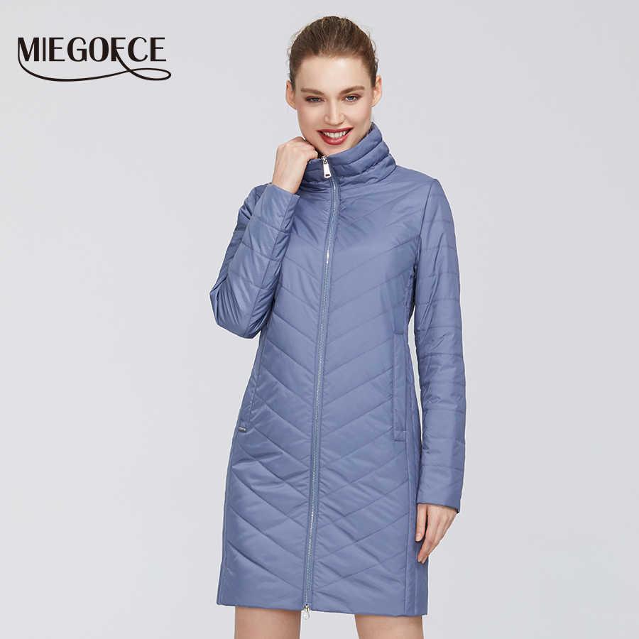 MIEGOFCE 2020 새로운 봄 컬렉션 여성 코트 높은-중간 품질 펌웨어 내성 칼라 세련 된 여성 자 켓 코트