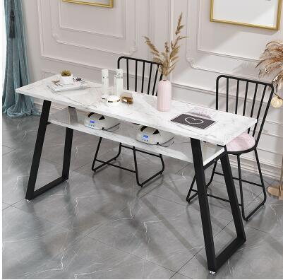 Manicure Table Economic Double Person Simple Modern Manicure Table And Chair Suit Double Deck Manicure Shop