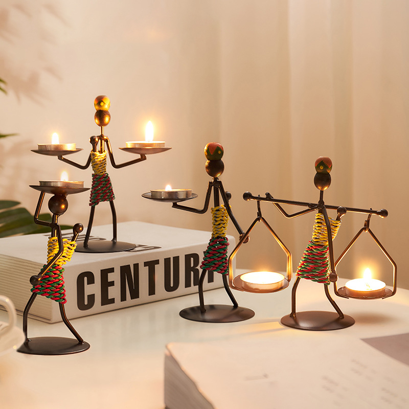 Halloween Christmas Ornaments House Decoration Candlestick Home Decor Candle Holder Candlelight Romantic Dinner Wedding Party