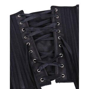 Image 5 - Burvogue Corsets and Bustiers Women Breathable 24 Steel Boned Corset Thin Mesh Underbust Slimming Belt Waist Trainer Corset Sexy
