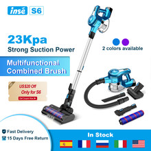INSE S6 Cordless Vacuum Cleaner 250W 23Kpa Brushless High Suction Vacuum, Up to 45 Mins Max Runtime 2500mAh Rechargeable Battery