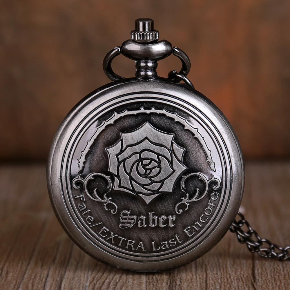 Hot Sale Blooming Flowers Quartz Pocket Watch Pendant Clock Numerals Display Necklace Chain Pocket Watches Gifts For Mens Womens