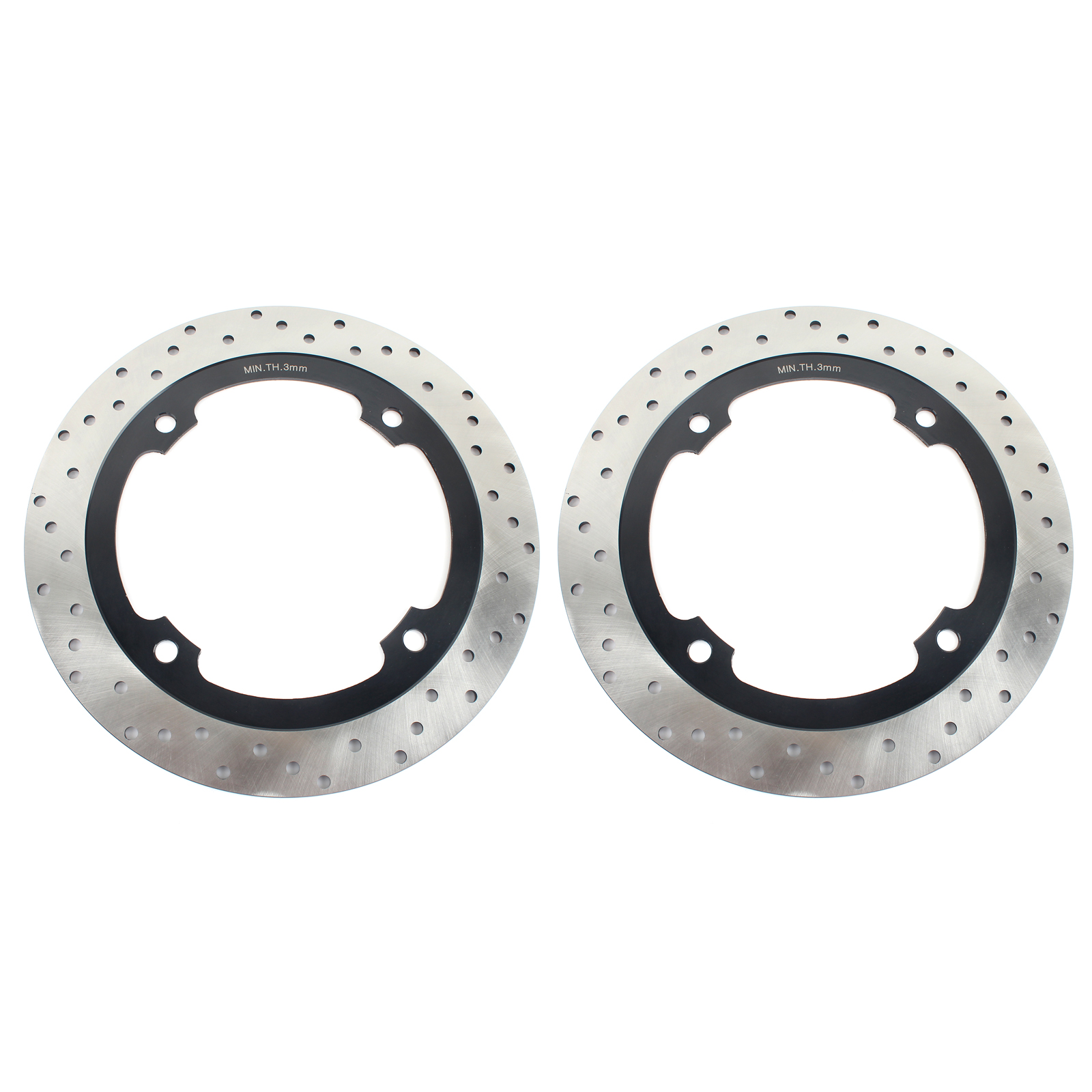 BIKINGBOY 256mm Front Brake Discs Disks Rotors For <font><b>Honda</b></font> <font><b>XL</b></font> 600 V <font><b>Transalp</b></font> 1997-2002 <font><b>XL</b></font> <font><b>650</b></font> V <font><b>Transalp</b></font> 2000-2007 image