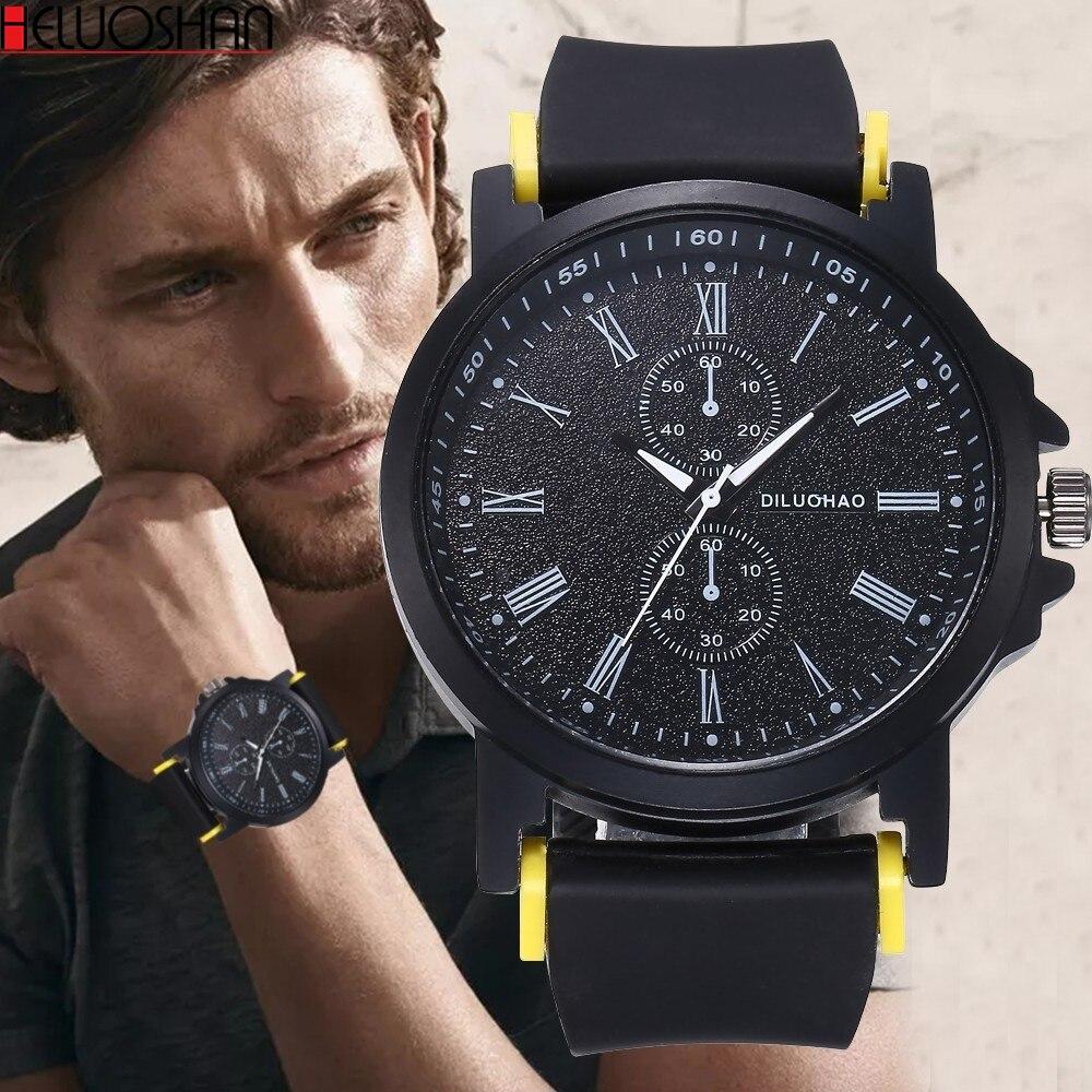2019Hot Sale Fashion Men Watches Unisex Silicone Jelly Gel Quartz Analog Black Sports Wrist Watch Casual Reloj Luxury Band Clock Quartz Watches  - AliExpress