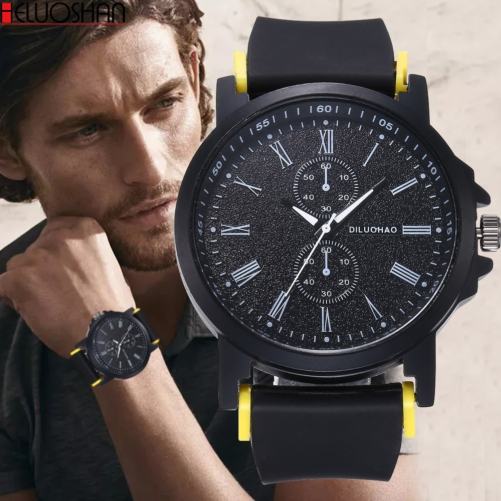 Unisex Silicone Jelly Quartz Analog Sports Wrist Watch