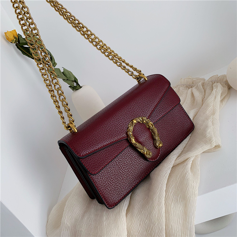 Fashion Brand Women Bag PU Leather Messenger Bag Designer Chain Shoulder Crossbody Bag Women Handbag Bolso Mujer