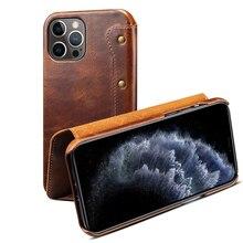 Echt Lederen Beschermhoes Voor Iphone 12 Pro Wallet Cover Met Card Slot Money Pocket