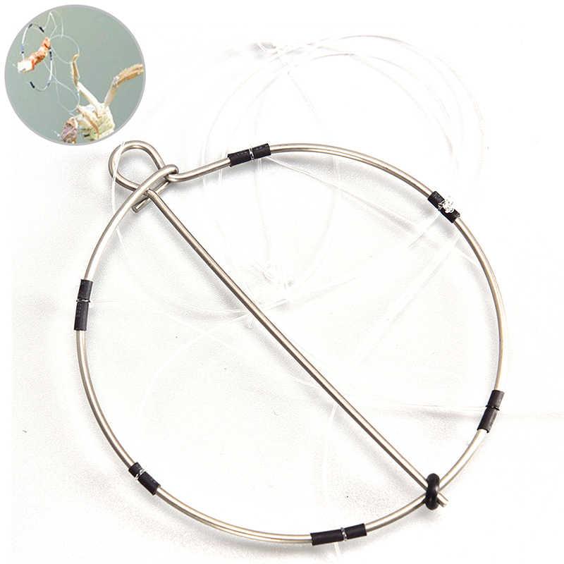 1pcs 6-טבעת נייד דיג שרימפס סרטנים יצוק מלכודת לתפוס סרטנים כלי סט