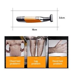 Image 3 - Tông Đơ Keimei Điện Râu Tóc USB Sạc Máy Cạo Râu Cho Nam Chuyên Nghiệp Máy Tẩy Nhổ Lông Một Lưỡi Dao Râu Kẹp Dao Cạo