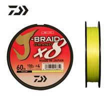 Daiwa J-BRAID желтая рыболовная леска 135 м 8 нитей в оплетке из полиэстера Леска рыболовная снасть 10 20 25 30 35LB Сделано в Японии