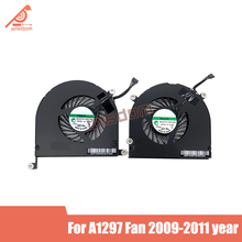 Full new genuine A1297 laptop cpu cooling fan cooler for Apple MacBook Pro 17