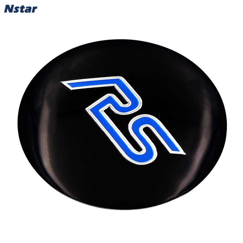 Nstar 4pcs/set 56mm RS Styling Auto Wheel Center Emblem Aluminum Car Wheel Centre Badge Sticker For Ford Focus 024