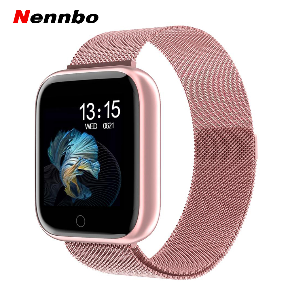 2019 New Women Waterproof Smart Watch T80 P70 Bluetooth Smartwatch For Apple IPhone Xiaomi Heart Rate Monitor Fitness Tracker