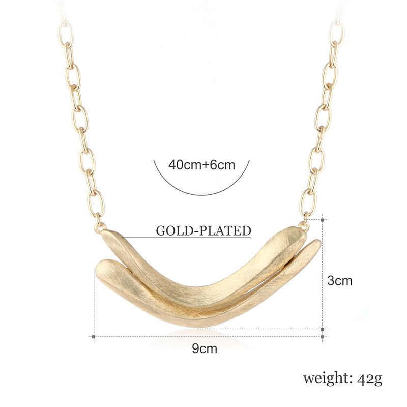Shineland פסטיבל מתנה Steampunk תליון זהב כסף-צבע שרשרת מתכת מקסי שרשראות & תליוני נשים תכשיטי הצהרת