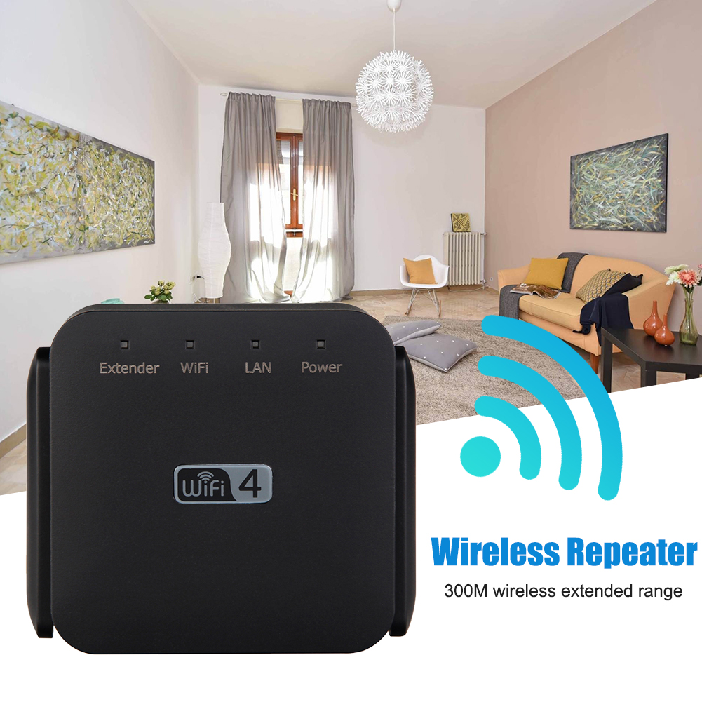 300Mbps High Speed 2.4G Hotel Gaming Range Extender Home Signal Amplifier Portable Plug And Play Wireless Repeater Universal