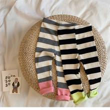 Legginsy dla niemowląt noworodka spodnie dla niemowląt chłopiec paski spodnie dla dzieci najniższe spodnie dla niemowląt niemowlę dziecko maluch PP spodnie dla dziewczynki tanie tanio CHILDLAND POEM Stałe REGULAR baby pants Pełnej długości Unisex COTTON Na co dzień Pasuje prawda na wymiar weź swój normalny rozmiar