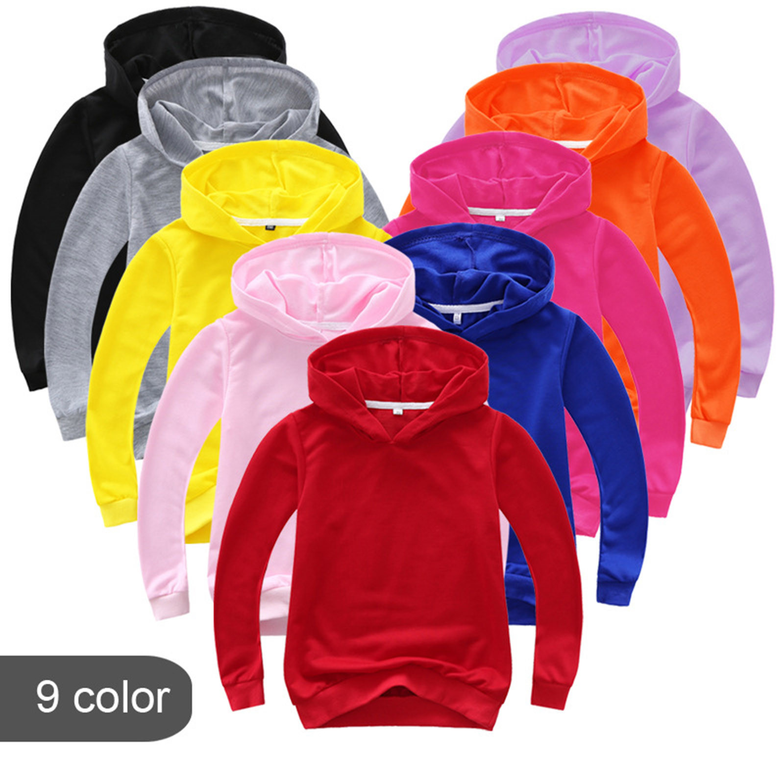 Baby Pullover,Kids Boys Girls Letter Multicolor Hoodies Sweatshirts Pullover Tshirt Tops Clothes 2-10 Years