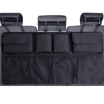 Car Trunk Organizer Adjustable Backseat Storage Bag Net High Capacity Multi-use Oxford Automobile Seat Back Organizers Universal 1