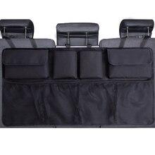 Auto Trunk Organizer Einstellbare Rücksitz Lagerung Tasche Net Hohe Kapazität Multi verwenden Oxford Automobil Sitz Zurück Organisatoren Universal