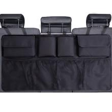 Car Trunk Organizer Adjustable Backseat Storage Bag Net High Capacity Multi use Oxford Automobile Seat Back Organizers Universal