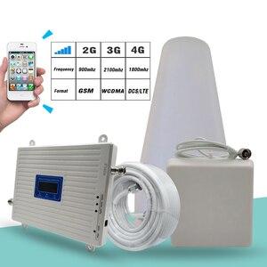 Image 2 - 2G 3G 4G 트라이 밴드 신호 부스터 GSM 900 + DCS/LTE 1800 (밴드 3) + UMTS/WCDMA 2100 (밴드 1) 모바일 신호 리피터 셀룰러 앰프