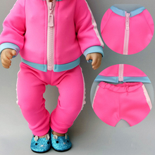 new born baby doll zipper sport clothes 18 inch american coat