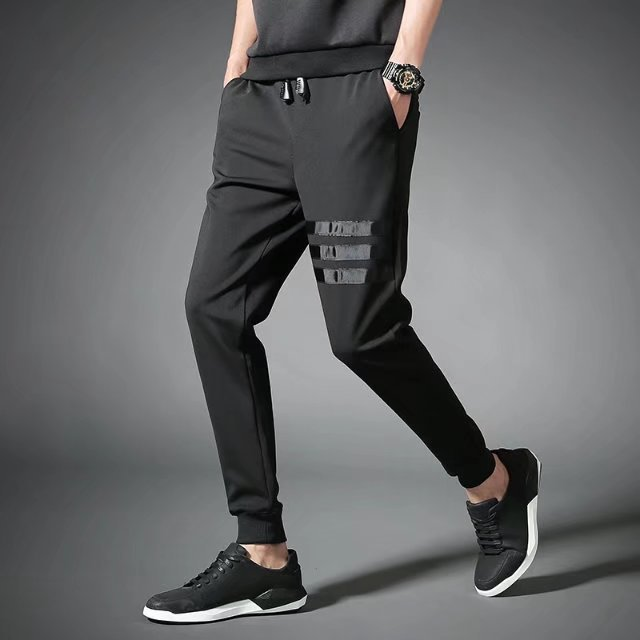 Autumn Skinny Athletic Pants Harem Pants Slim Fit MEN'S Casual Pants Korean-style Trend Knitted Wei Pants Length Pants