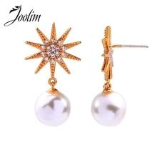 Joolim Starburst Pearl Earring Luxury Wholesale