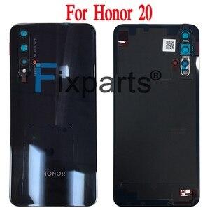 Image 2 - Huawei Honor 20 Pro 배터리 커버 도어 백 하우징 후방 케이스 명예 20 배터리 커버 도어 교체 부품