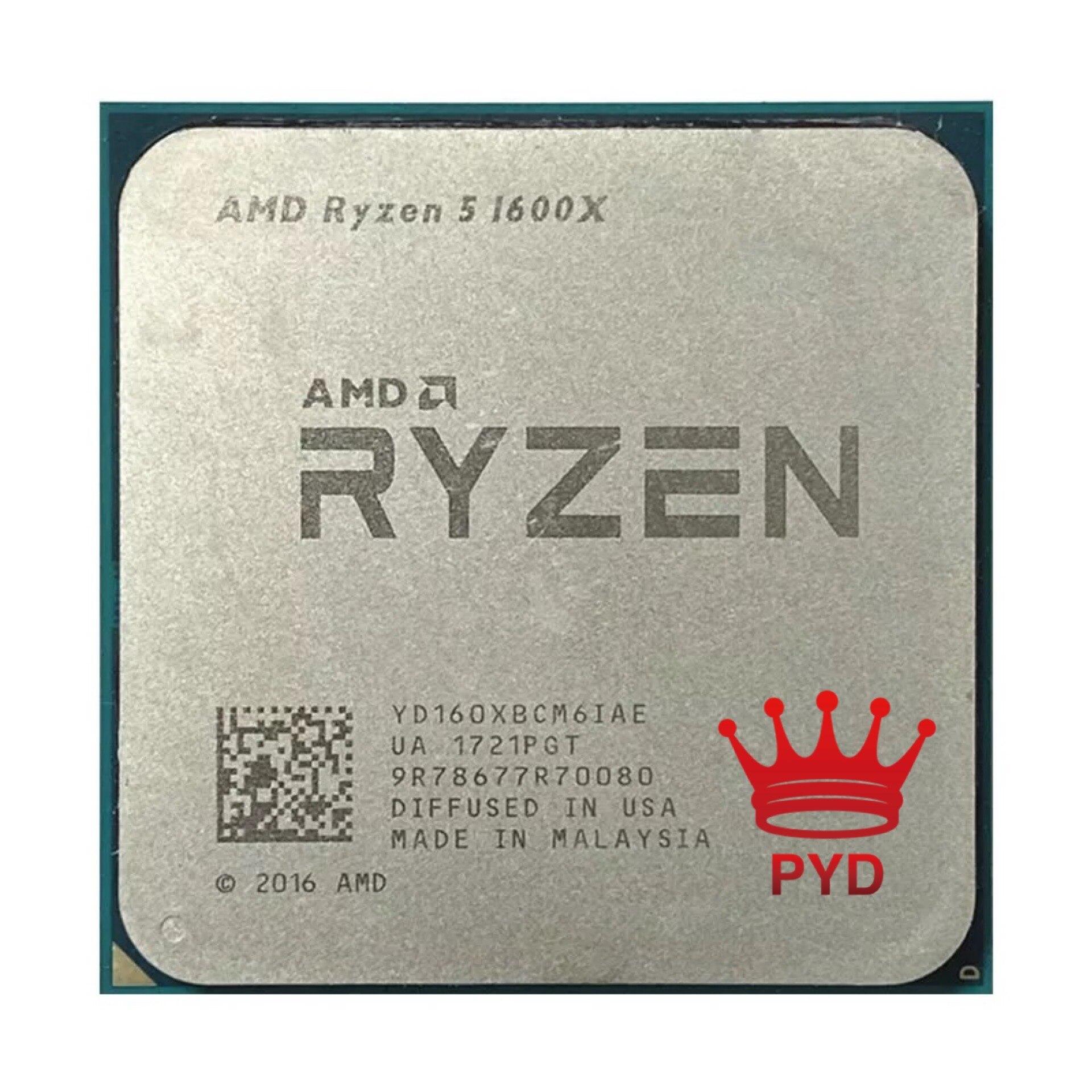 AMD Ryzen 5 1600X R5 1600X 3,6 ГГц шестиядерный двенадцать-нить Процессор процессор 95 Вт L3 = 16M YD160XBCM6IAE гнездо AM4