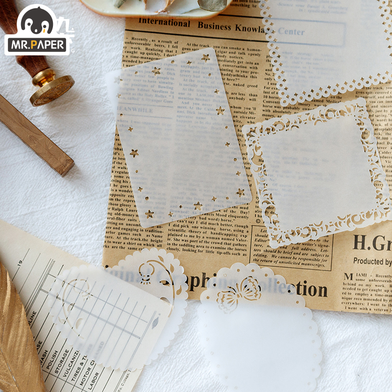 Mr.Paper 30pcs Lace Frame Love Square Loose Leaf Memo Pads Minimalist Write Down Points Artsy Laptop Motorcycle Style Memo Pads