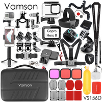 Vamson for GoPro Action Camera Accessories Kit Waterproof Housing Case Set for Go Pro Hero 8 Black Action Camera Accessory VS156