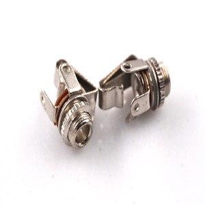 100 sztuk TS 3.5mm złącze audio Mono gniazdo telefoniczne na gitara basowa mocowanie panelu przełącznik wewnętrzny gniazdo śrubowe kobieta 2 biegun