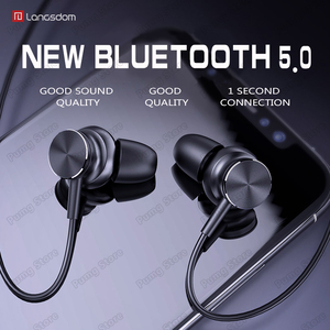 Image 1 - Langsdom Sports Bluetooth headphone L33 portable super bass stereo Magnetic Switch gaming headset HIFI headphone with microphone
