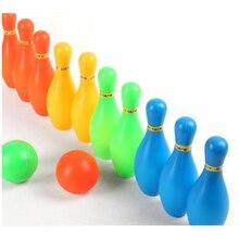 1 Набор забавных спортивных игрушек с шариком и булавками, забавные детские уличные игрушки, детское взаимодействие, досуг, мини-боулинг, Об...