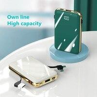 Power bank di linea propria 20000mAh portatile ricaricabile sottile e leggero mini power bank per Xiaomi Huawei iphone caricabatterie esterno