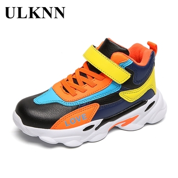 ULKNN Sports Shoes For Children Boy's Shoes Rubber Sole Comfortable Kid's Sneakers Solid Color Non-Slip Autumn Fashion Footwear casual shoes sports shoes thick sole solid color simple versatile comfortable durable women s shoes sneakers