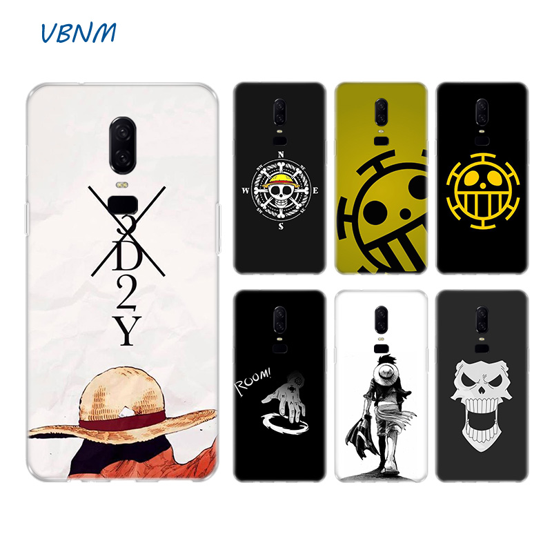 One Piece Logo <font><b>Anime</b></font> Heart Soft Rubber Soft TPU Silicone Back <font><b>Case</b></font> For <font><b>OnePlus</b></font> One Plus 1+ 7 Pro <font><b>6</b></font> 6T 5 5T 3 3T Coque Cover image