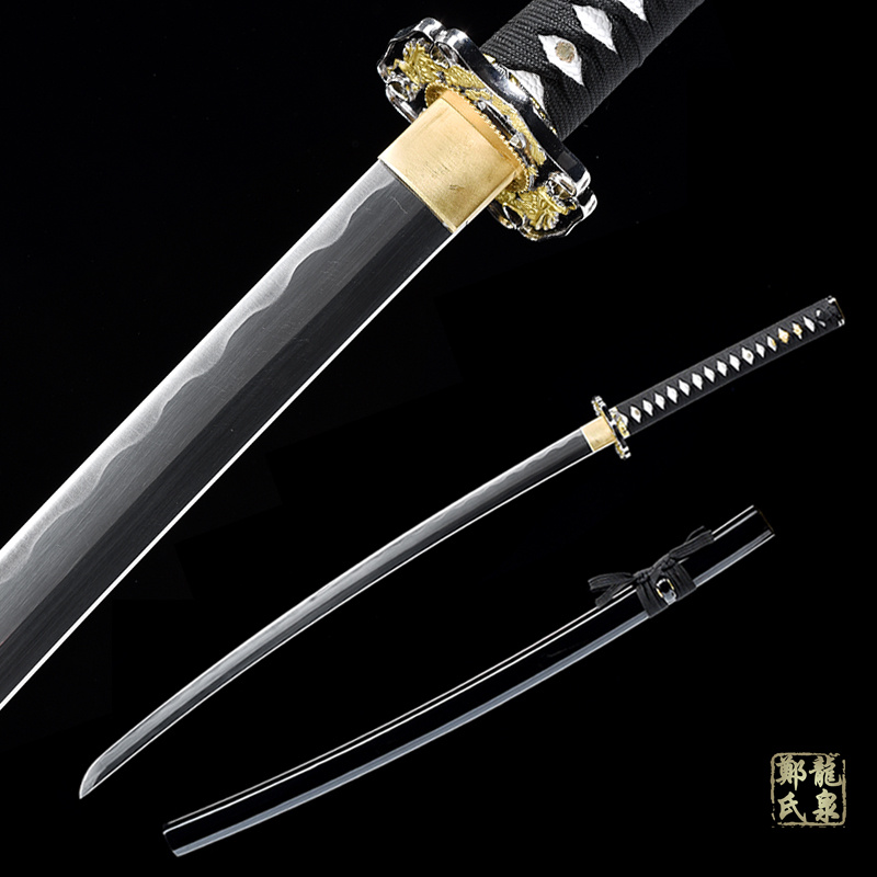 Samurai Sword-Hand Forged Japanese Katana Real Steel Blade Full Tang Iaito Katana For Training Sharp Ready-41Inch