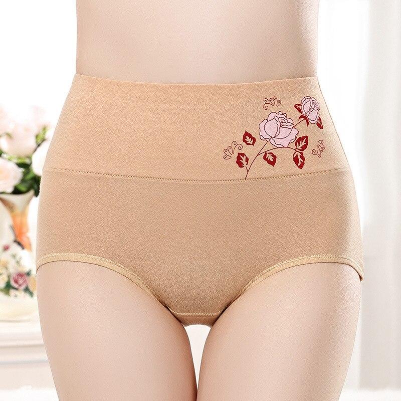 Floral Elastic Cotton Panties Women High Waist Underwear Lady Cotton Briefs Comfort Spring Autumn Pants Lingerie 2020 New