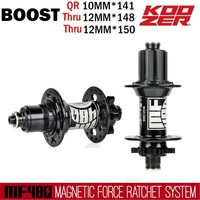 Koozer MF480 32 Hole Boost Hubs 24 Full Fixed Gear Ratchet Mountain Bike Hubs 148/150 12MM and 141 10MM For 8 9 10 11S or XD 12S