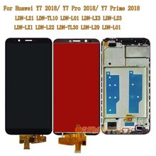 For Huawei Y7 2018/Y7 Prime 2018/ Y7 Pro 2018 LDN-L21 LDN-LX3 LDN-L01 LCD Touch Screen Glass Frame For Huawei LDN L21 LX3 Screen(China)