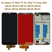 สำหรับ Huawei Y7 2018/Y7 Prime 2018/Y7 Pro 2018 LDN L21 LDN LX3 LDN L01 LCD กรอบกระจกหน้าจอสำหรับ Huawei LDN L21 LX3 หน้าจอ