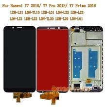 Для huawei Y7 2018/Y7 премьер 2018/Y7 Pro 2018 LDN L21 LDN LX3 LDN L01 ЖК дисплей Сенсорный экран Стекло рамка для huawei ндз L21 LX3 Экран