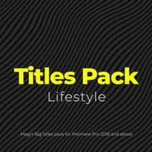 Lifestyle Titles Pack - 24005265 Download Videohive