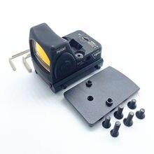 Mira telescópica de punto rojo RMR de nailon, visor reflejo Glock compatible con Weaver carril de 20mm para caza Airsoft