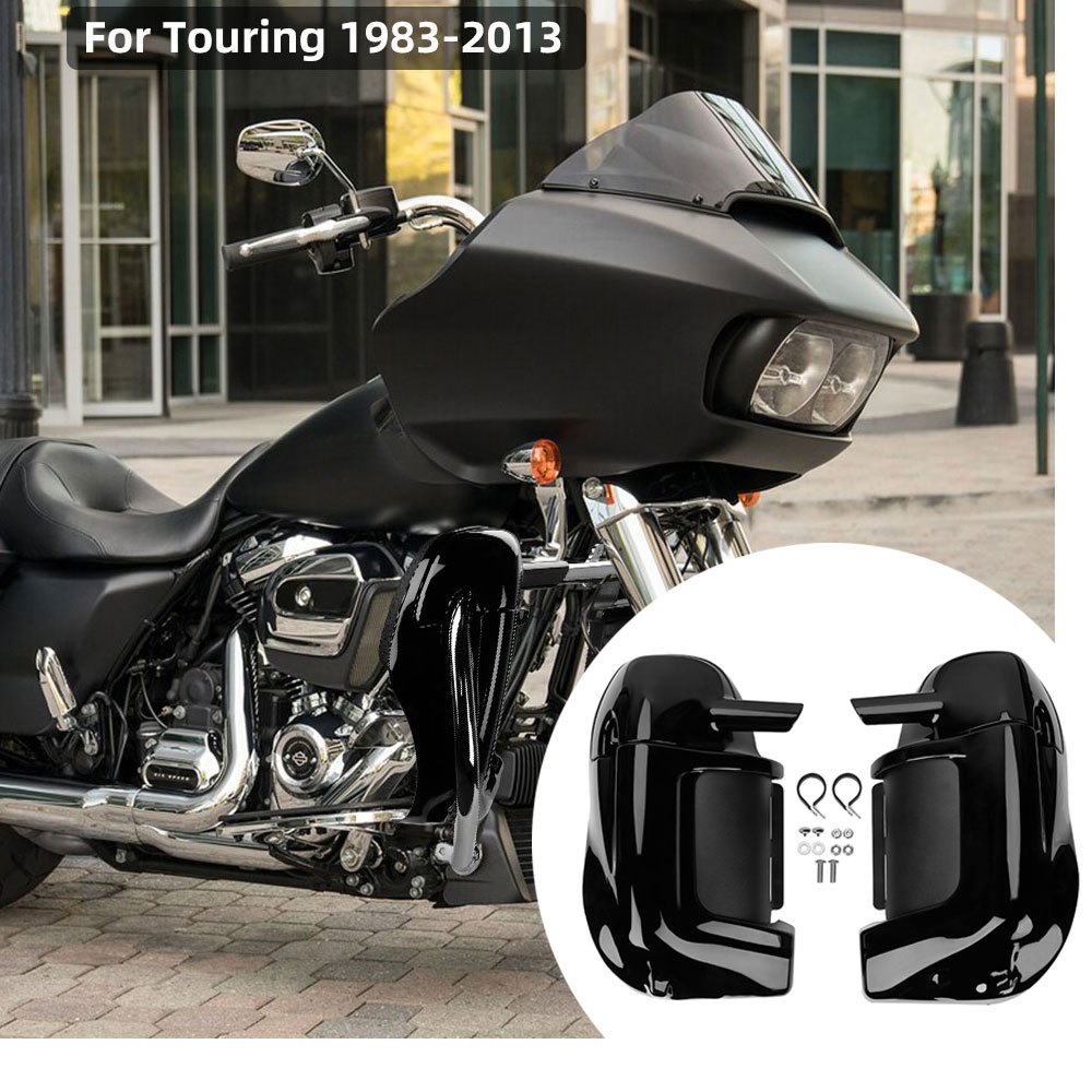 Black Lower Vented Leg Fairings Cap Glove Box For Harley Davidson Touring 83-13