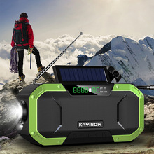 Bluetooth Speaker Solar Professional Emergency-Radio Outdoor 5000mah FM Power-Generation