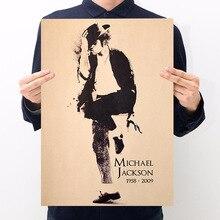 Star singer Michael Jackson kraft paper poster room decoration bar cafe decoration painting wall sticker