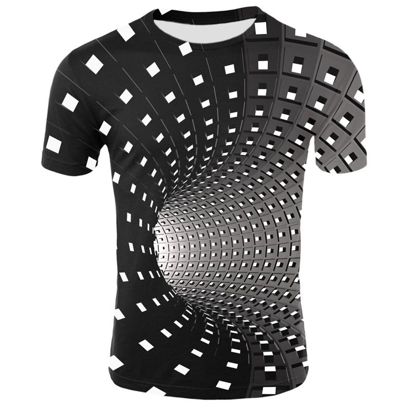 Mens T Shirt Mens Personality Blouse New Printed Crew Neck Short Sleeves Fashion Top Summer
